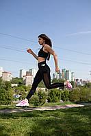 Спортивные Лосины для йоги,танцев и фитнеса , ТМ Plum c V образним поясом, сеткой и карманом