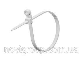Стяжки нейлон під дюбель RITAR 4,0х150мм білі (100 шт) висока якість, діапазон робочих температур: від-45С до + 80С Q90