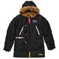 Оригинальная куртка аляска Alpha Industries N-3B Inclement Parka MJN44512C1 (Black), фото 1