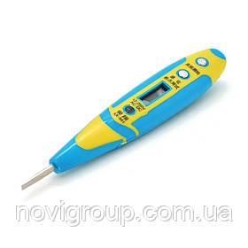 Індікатор-викрутка AX-981 для тестування напруги 12-250V, помаранчева ручка