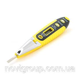 Індікатор-викрутка LD-805 для тестування напруги 12-220V, цифрова індикація, чорно-жовта ручка