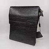 Шкіряна чоловіча сумка через плече / Мужская кожаная сумка через плечо Polo, фото 2