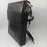 Шкіряна чоловіча сумка через плече / Мужская кожаная сумка через плечо Polo, фото 4