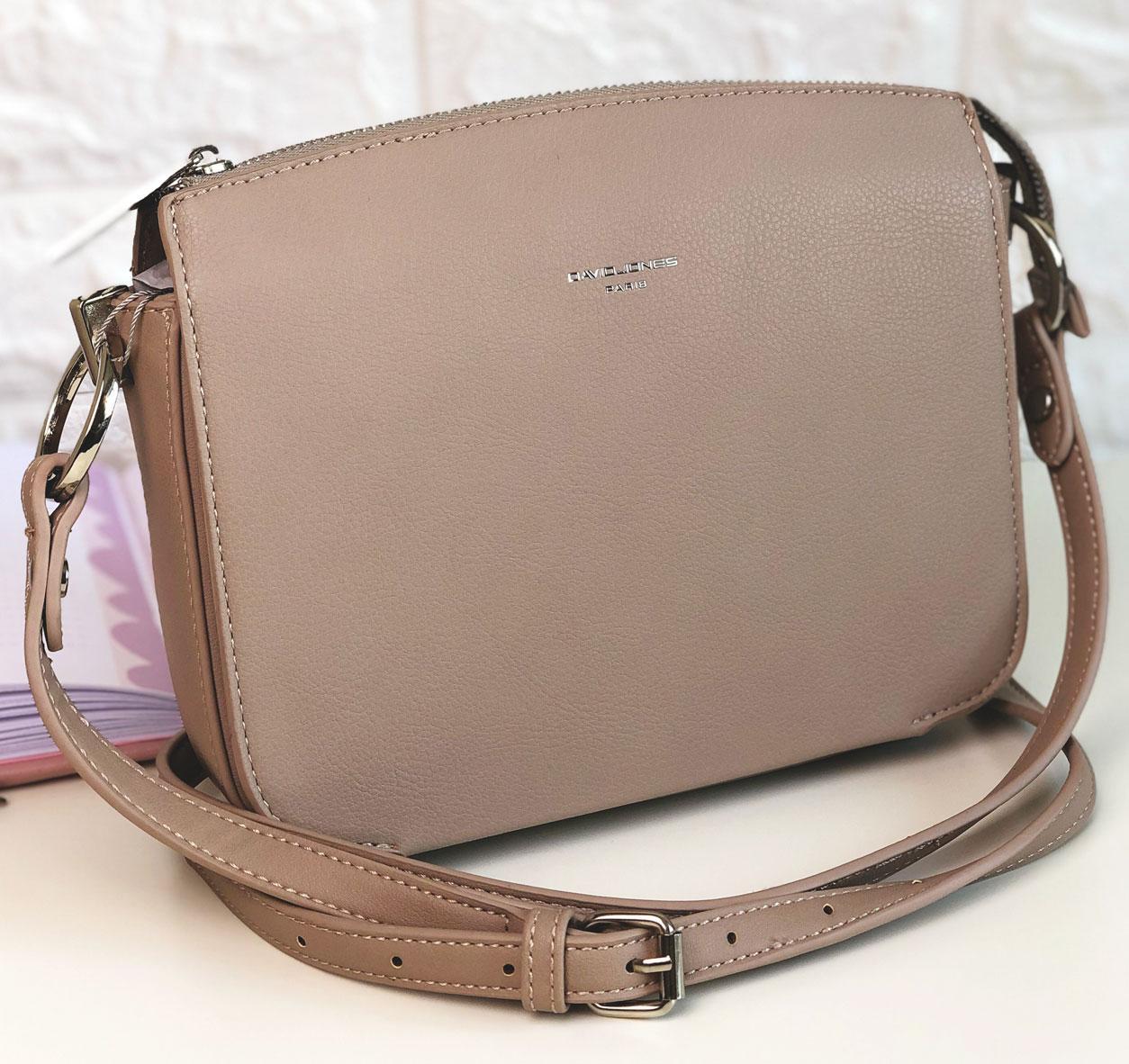 Жіноча сумка через плече David Jones СМ3598А Бежева