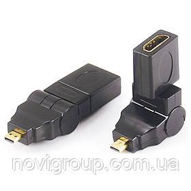 Перехідник microHDMI (тато) -HDMI (мама) 360 °