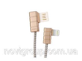 Кабель iKAKU Gallop series for iphone, Gold, довжина 1м, 2.4 A, BOX