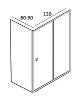 Душові кабіни прямокутні Dusel 120х80, 120х90
