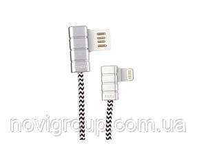Кабель iKAKU Gallop series for iphone, Silver, довжина 1м, 2.4 A, BOX