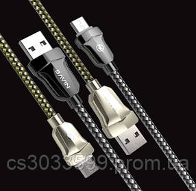 Кабель Bavin CB087, Micro-USB, 2.4A, Silver, довжина 1,2 м, BOX