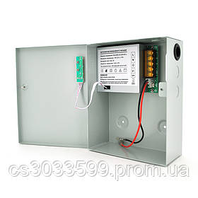 Імпульсне джерело безперебійного живлення PSU-3107 12V 3А, під АКБ 12V 7-9A, Metal Box