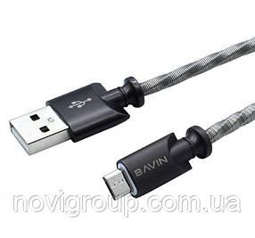 Кабель Bavin CB101, Micro-USB, 2.4A, Black,  довжина 1м, BOX