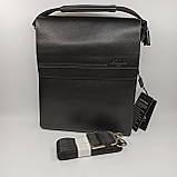 Шкіряна чоловіча сумка через плече / Мужская кожаная сумка через плечо Polo, фото 3