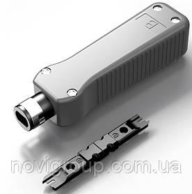 Инструмент HT-324 для заделки витой пары в кроссы, патч-панели, розетки, модули с контактами типа: 88/110 IDC,