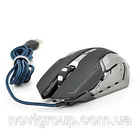Миша дротова MICE V8, 6 кнопок, 1000/2000/3000/4000 DPI, Led Lighting, 1,3 м, Win7 / 8/10 Mac OS, Black, COLOR