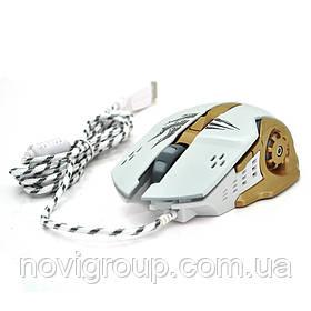 Миша дротова Apedra A8, 6 кнопок, 800/1200/2400/3200 DPI, Led Lighting, 1,3 м, Win7 / 8/10 Mac OS, Black,