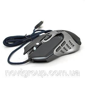 Миша дротова MICE V5, 7 кнопок, 800/1200/2400/3200 DPI, Led Lighting, 1,3 м, Win7 / 8/10 Mac OS, Black, COLOR