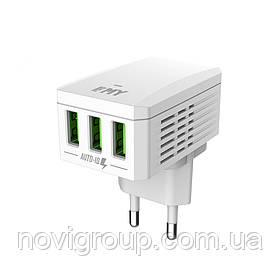 Набір 2 в 1 СЗУ With Micro-Usb Cable 110-240V MY-A300, 3 x USB, 5V / 17W, Output: 5V / 3.4A, White, Blister-