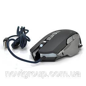 Миша дротова MICE V9, 7 кнопок, 800/1200/2400/3200 DPI, Led Lighting, 1,3 м, Win7 / 8/10 Mac OS, Black, COLOR