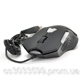 Миша дротова ESTONE GT-700, 6 кнопок, 800/1200/1600/2400 DPI, Led Lighting, 1,3 м, Win7 / 8/10 Mac OS, Black, COLOR BOX, Q40