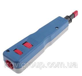 Інструмент HT-914B професійний для закладення кабелю в модулі, патч панелі, розетки і бокси з ножами типу 110