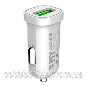 Набір 2 в 1 АЗУ With Iphone Cable DC12-24V MY-10, 1 x USB, 5V / 7.5W, Output: 5V / 1.5A, White, Blister- box,