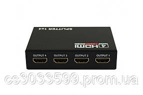 Активний HDMI сплітер 1 => 4 порти, 3D, 1080р, 1,4 версія, Box