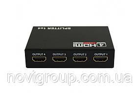 Активний HDMI сплітер 1 => 4 порти, 4K, 1080р, 1,4 версія, Box