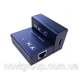 Одноканальний пасивний подовжувач HDMI сигналу по UTP кабелю по одній витій парі. Дальність передачі: до