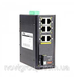 4х портовий PoE комутатор ONV-IPS31074PFS-S, 4 порту РоЕ 100 Мбіт + 2х100 Мбіт + 1 оптичний порт 100 Мбіт,
