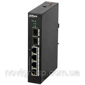 ¶Комутатор POE DH-PFS4206-4P-120 48V з 3 портами POE 100Мбит + 1 порт POE 1000Мбіт + 2 порти SFP 1000Мбіт,