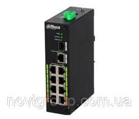 Комутатор POE DH-LR2110-8ET-120 48V з 8 портами POE 100Мбит + 1 порт UP-Link 1000Мбіт + 1 порт SFP, корпус -