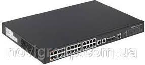 ¶Керований комутатор POE PFS4226-24ET-240 48V з 24 портами POE 100Мбит + 2 порти UP-Link 1000Мбіт + 2 порти