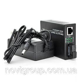 Медіаконвертер POE, FT-1G1EPS-20, SC 20km, Fast Ethernet 10/100/1000 Мбит/с, + блок живлення 48В, 2,5А (0 +70