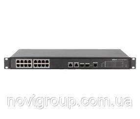 ¶Керований комутатор POE PFS4218-16ET-190 48V з 16 портами POE 100Мбит + 2 порти UP-Link 1000Мбіт + 2 порти