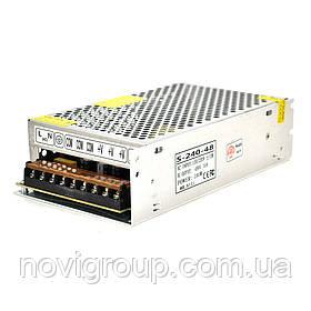 Імпульсний блок живлення 48В 5А (240Вт) перфорований (204*116*55) 0.7 кг (200*110*50)
