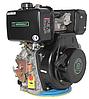 Двигатель дизель.GrunWelt GW186FВE +БЕСПЛАТНАЯ ДОСТАВКА! (9,5 л.с., шлицы, электростартер), фото 2