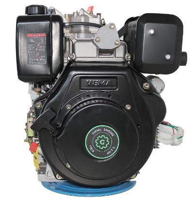 Двигатель дизель.GrunWelt GW186FВE +БЕСПЛАТНАЯ ДОСТАВКА! (9,5 л.с., шлицы, электростартер)