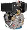 Двигатель дизель.GrunWelt GW186FВE +БЕСПЛАТНАЯ ДОСТАВКА! (9,5 л.с., шлицы, электростартер), фото 5