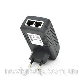 POE інжектор RITAR RT-PIN-12 / 12EU, 12V 1A (12Вт) з портами Ethernet 10/100 / 1000Мбіт / с, EU PLUG