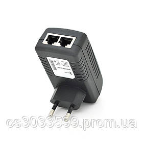 POE інжектор RITAR RT-PIN-18 / 18EU, 18V 1A (18Вт) з портами Ethernet 10/100 / 1000Мбіт / с, EU PLUG