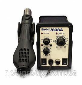 Паяльна станція BAKKU BK-898А, паяльник з блоком регулювання, фен  (260*170*158) 2,25 кг