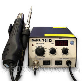 Паяльна станція BAKKU BK-761D цифрова індикація, фен, паяльник (275*223*123) 2,46 кг
