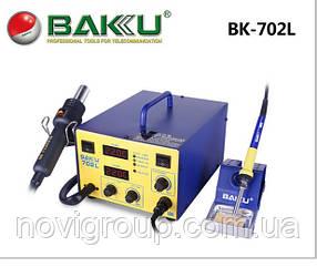 Паяльна станція BAKKU BK-702L  цифрова індикація, фен, паяльник 320*270*192) 4,82 кг