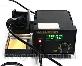 Паяльна станція BAKKU BK-936D, цифрова індикація, паяльник з блоком регулювання, Box (263*215*118)  2,02 кг