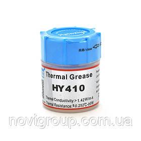 Паста термопровідна HY-410 15g, банку, White,> 0,925 W / m-K, <0.262 ° C-in2 / W, -30 ° ≈280 °, У в'язкість -1K cPs, OEM Q40