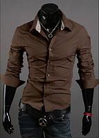 Рубашка мужская Техас коричневый