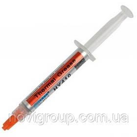 Паста термопровідна HY-410 3g, шприц, White,> 0,925 W / m-K, <0.262 ° C-in2 / W, -30 ° ≈280 °, У в'язкість -1K cPs, OEM Q20