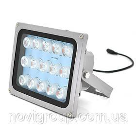 Прожектор спрямований з сутінковим датчиком YOSO 12V 18W, 15LED, IP66, кут огляду 60 °, дальність до 50м, 180 * 115 * 140мм, BOX