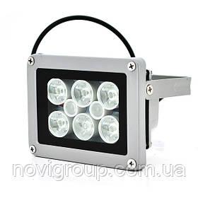 Прожектор спрямований з сутінковим датчиком YOSO 1.2 12V W, 6 + 2LED, IP66, кут огляду 60 °, дальність до 30м, 110 * 86 * 63мм, BOX