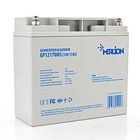 Акумуляторна батарея MERLION AGM GP12170M5 12 V 17Ah ( 180 x 78 x 165 (168))  Q4